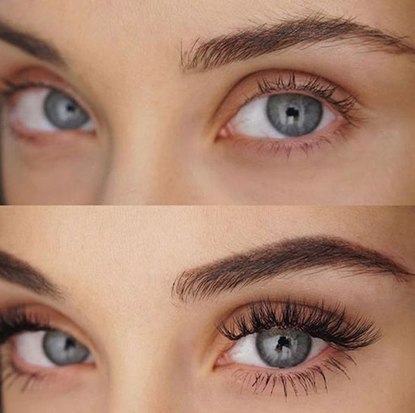Eyebrow Tint Before and After